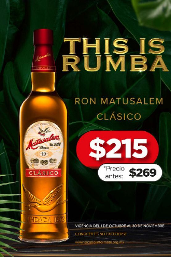 Oferta de Ron Matusalem por $215