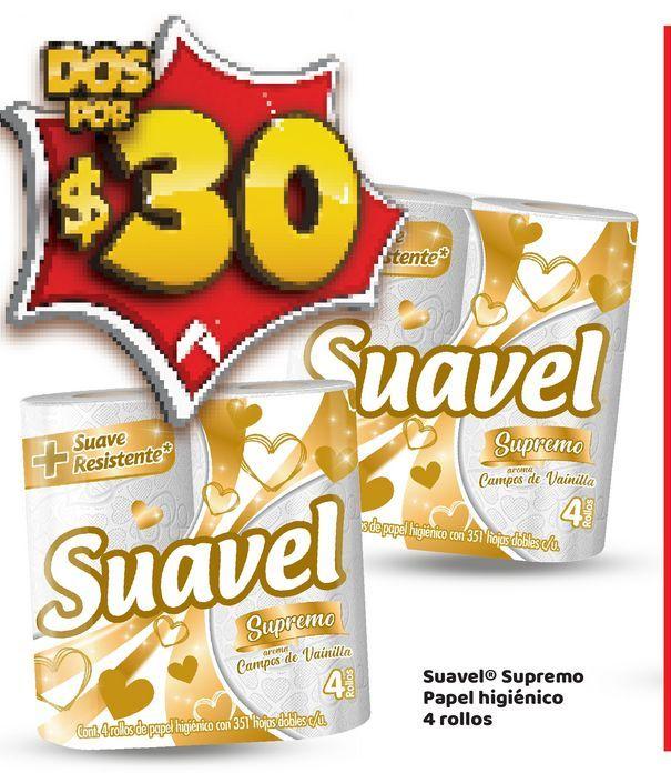 Oferta de Papel Higiénico Suavel por $30
