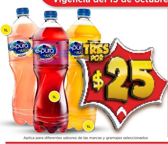 Oferta de Agua con sabor epura por $25