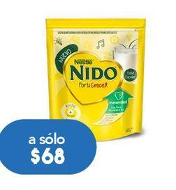 Oferta de NIDO LECHE EN POLVO FORTICRECE C/480GR por $68