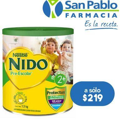 Oferta de NIDO PRESCOLAR LECHE EN POLVO 2+ C/1.5KG por $219