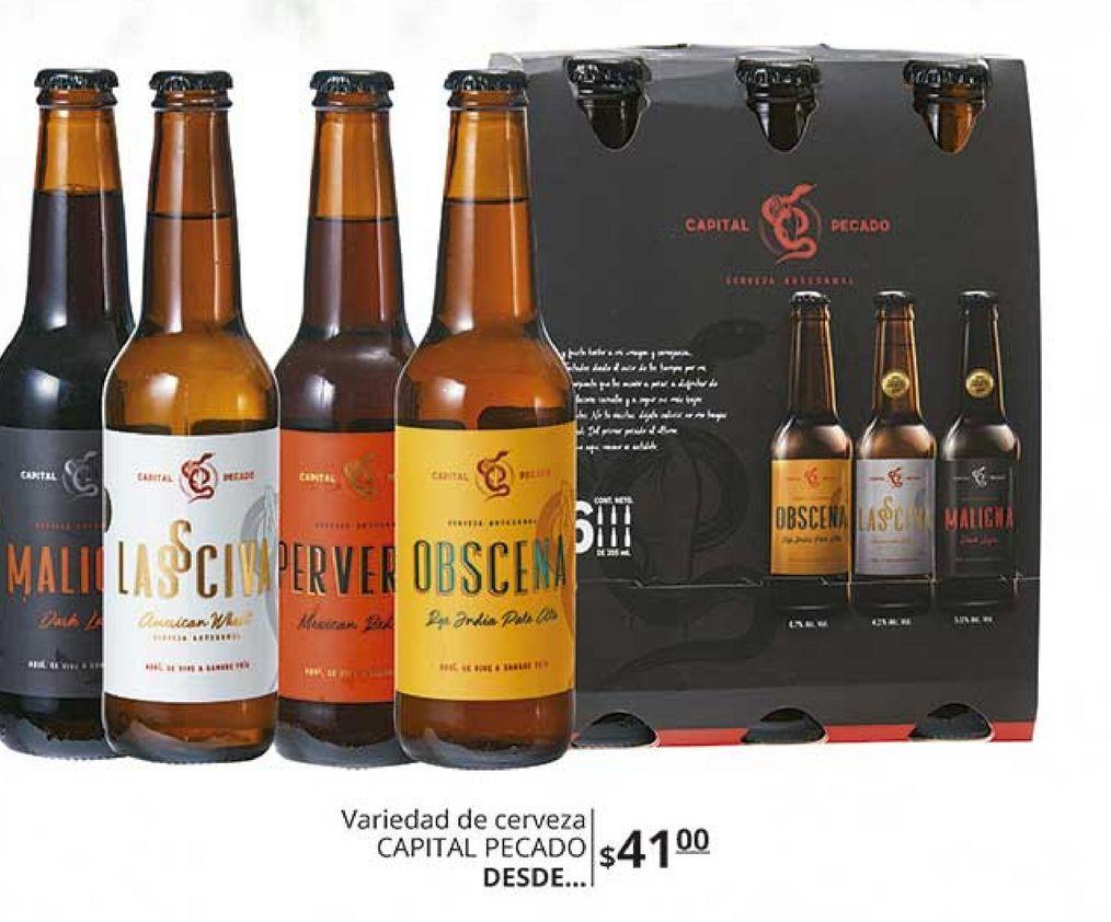 Oferta de Cerveza capital pecado  por $41