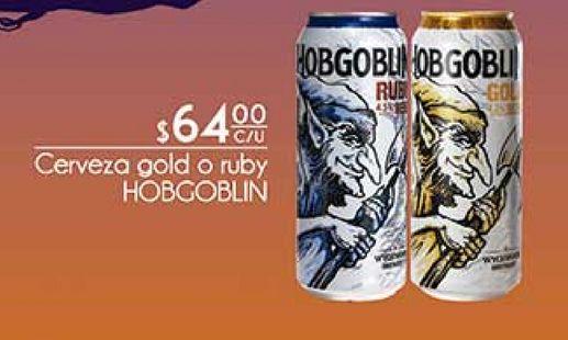 Oferta de Cerveza gold o ruby Hobgoblin por $64