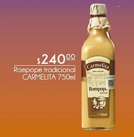 Oferta de Rompope tradicional CARMELITA por $240