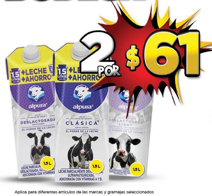 Oferta de Leche Alpura x 2 por $61