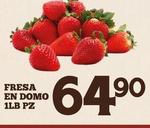 Oferta de Fresas en domo 1 libra por $64.9