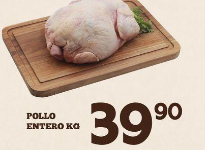 Oferta de Pollo entero x kilo por $39.9