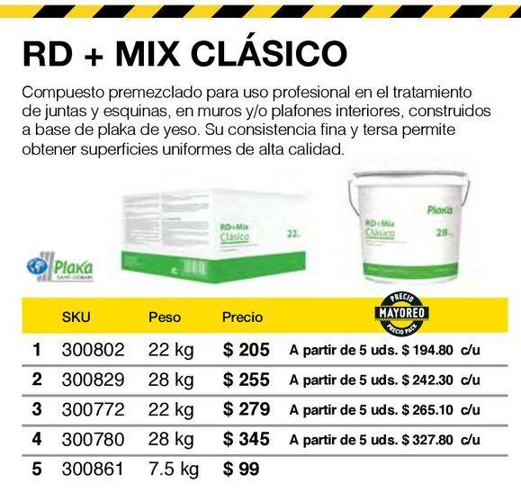Oferta de Compuesto rd+mix caja 22 kg por $205