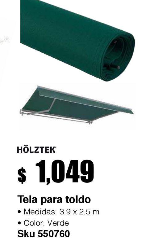 Oferta de Tela verde para Toldo retráctil 3.95X2.5 por $1049