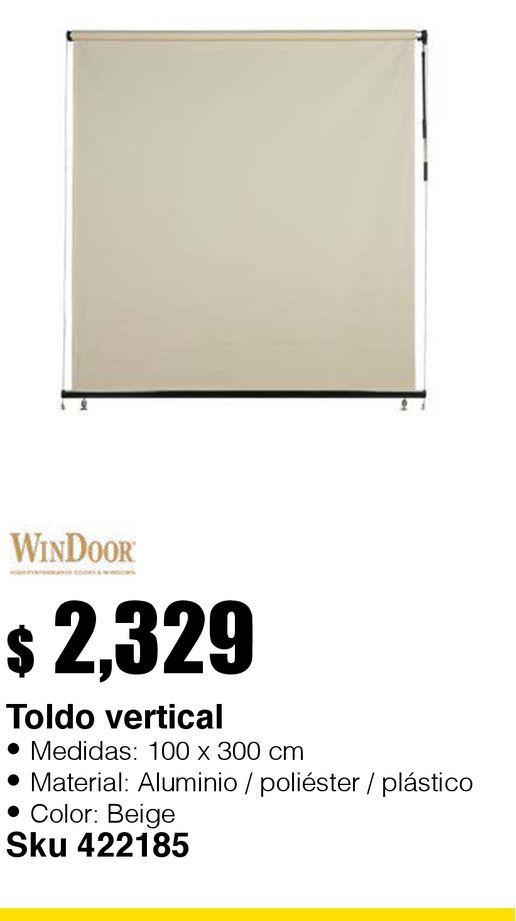 Oferta de Toldo Vertical Beige 1.00x3.00 por $2329