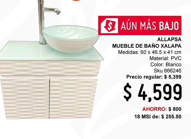 Oferta de Mueble de baño Xalapa Bco por $4599