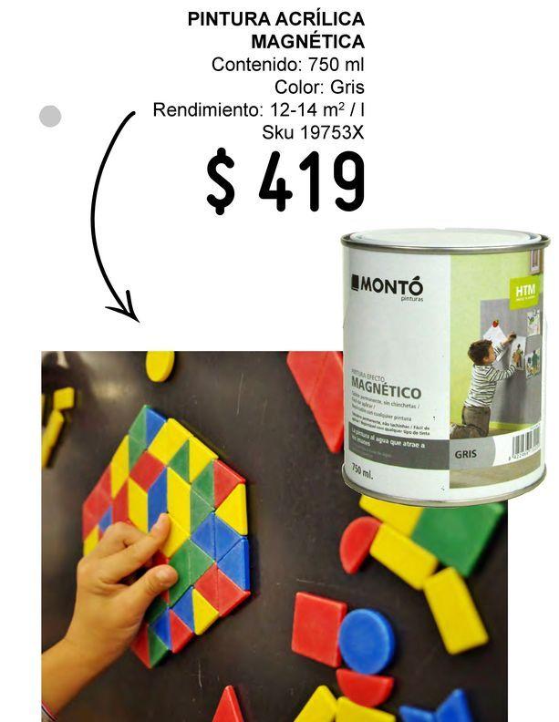 Oferta de Pintura acrílica Htm 750 ml magnética por $419