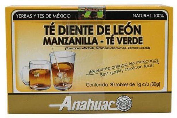 Oferta de Te Diente De Leon, Manzanilla Y Te Verde 30 Sob por $50.5